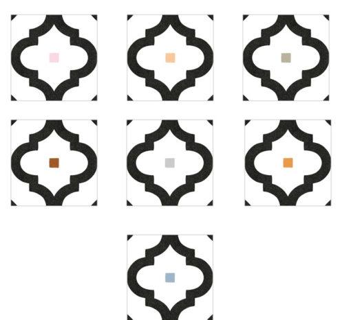 Marokkói mintás falicsempe