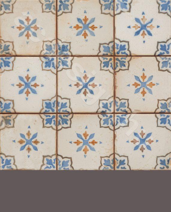 Kék mintás falicsempe apró mintával