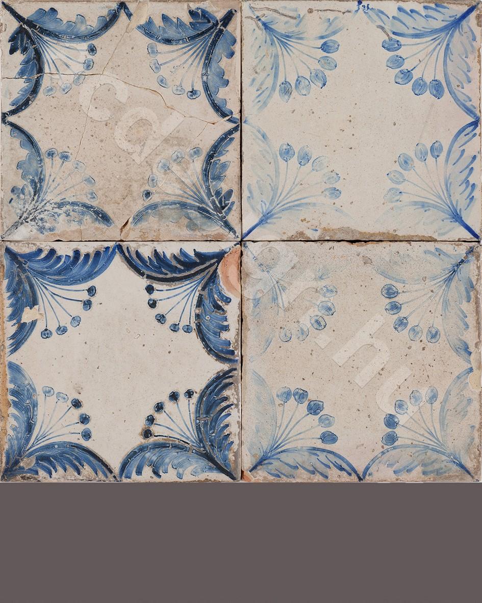 Azulejo festett falicsempe