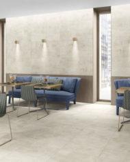 Porcelain stoneware floor tile: concrete look