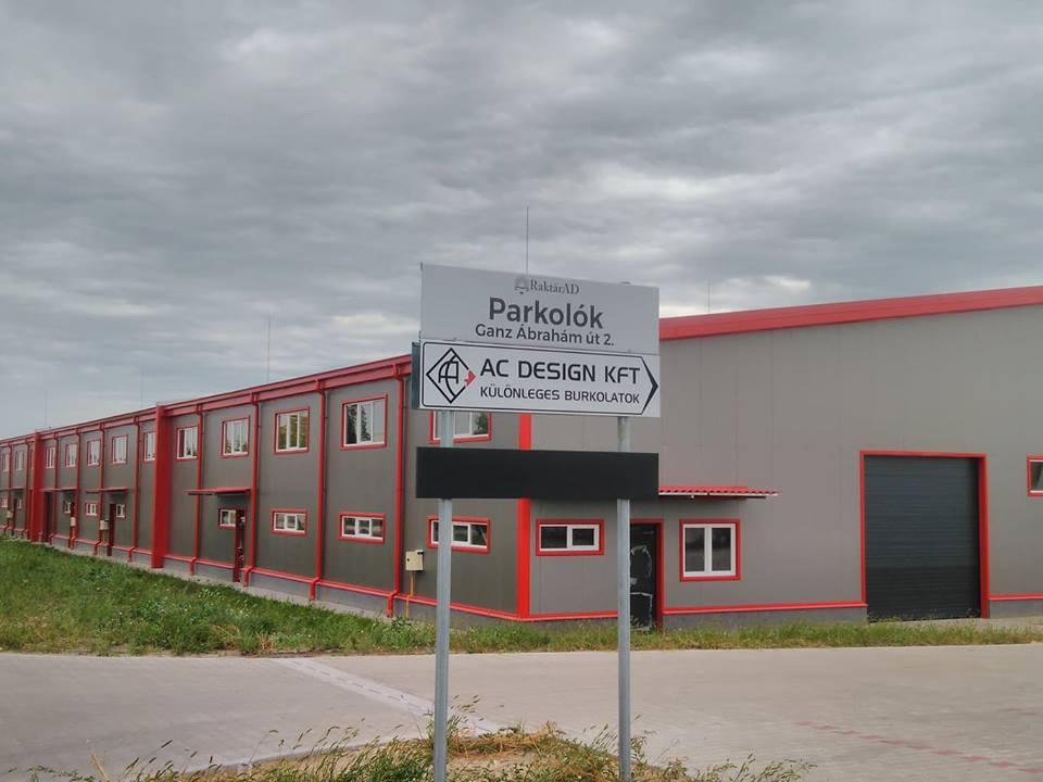 AC Design raktár Nagytarcsa Ipari park