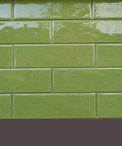 Rusztikus zöld metró csempe raktárról