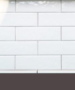 Rusztikus fehér metró csempe raktárról