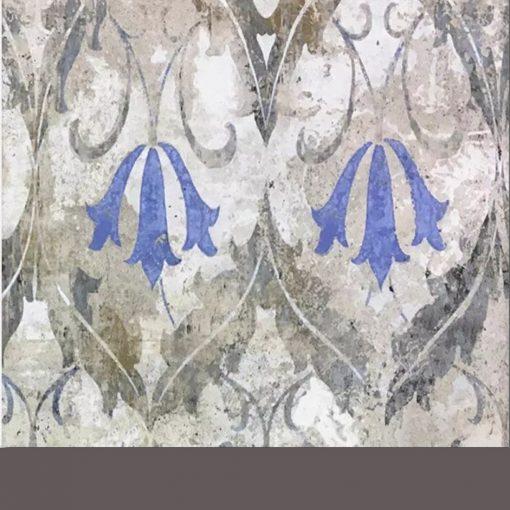 Kék virágmintás vintage burkolat
