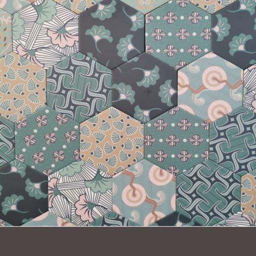 Kimono mintás hatszögletű burkolat