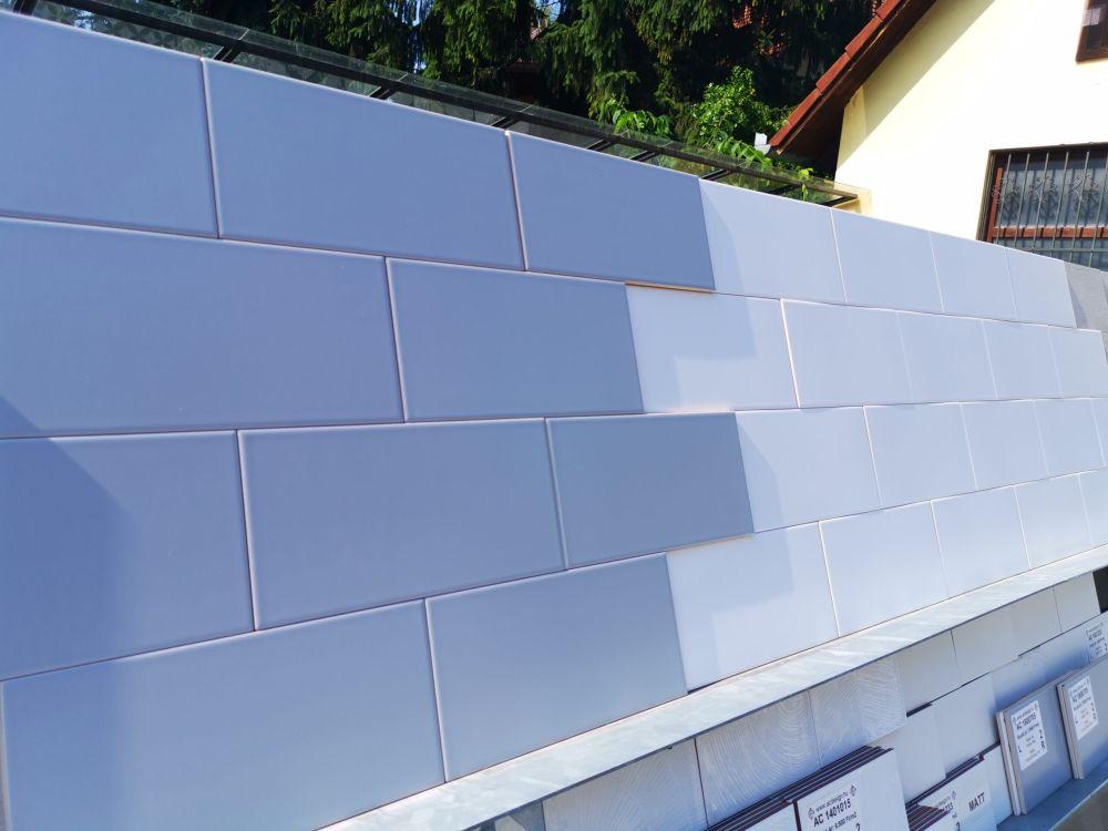 15x30 cm nagy loft csempe kék és fehér