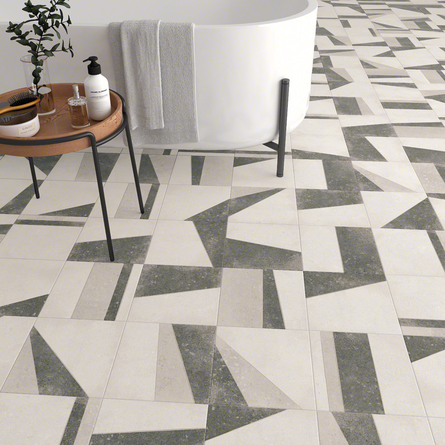 Geometrikus mintás padlóburkolat